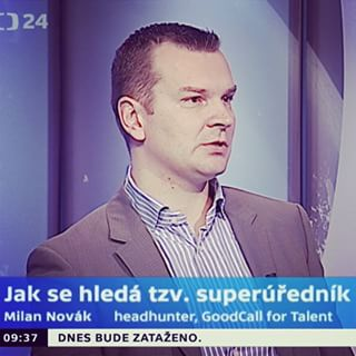 Milan Novak, CEO at GoodCall, interviewed for the selection procedure of so called superofficer.