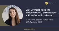 Jak vytvořit kariérní video v oboru strojírenství - s Kateřinou Samkovou