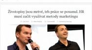 tyinternety.cz 1.10. 2015 | Životopisy jsou mrtvé, trh práce se posunul. HR musí začít využívat metody marketingu